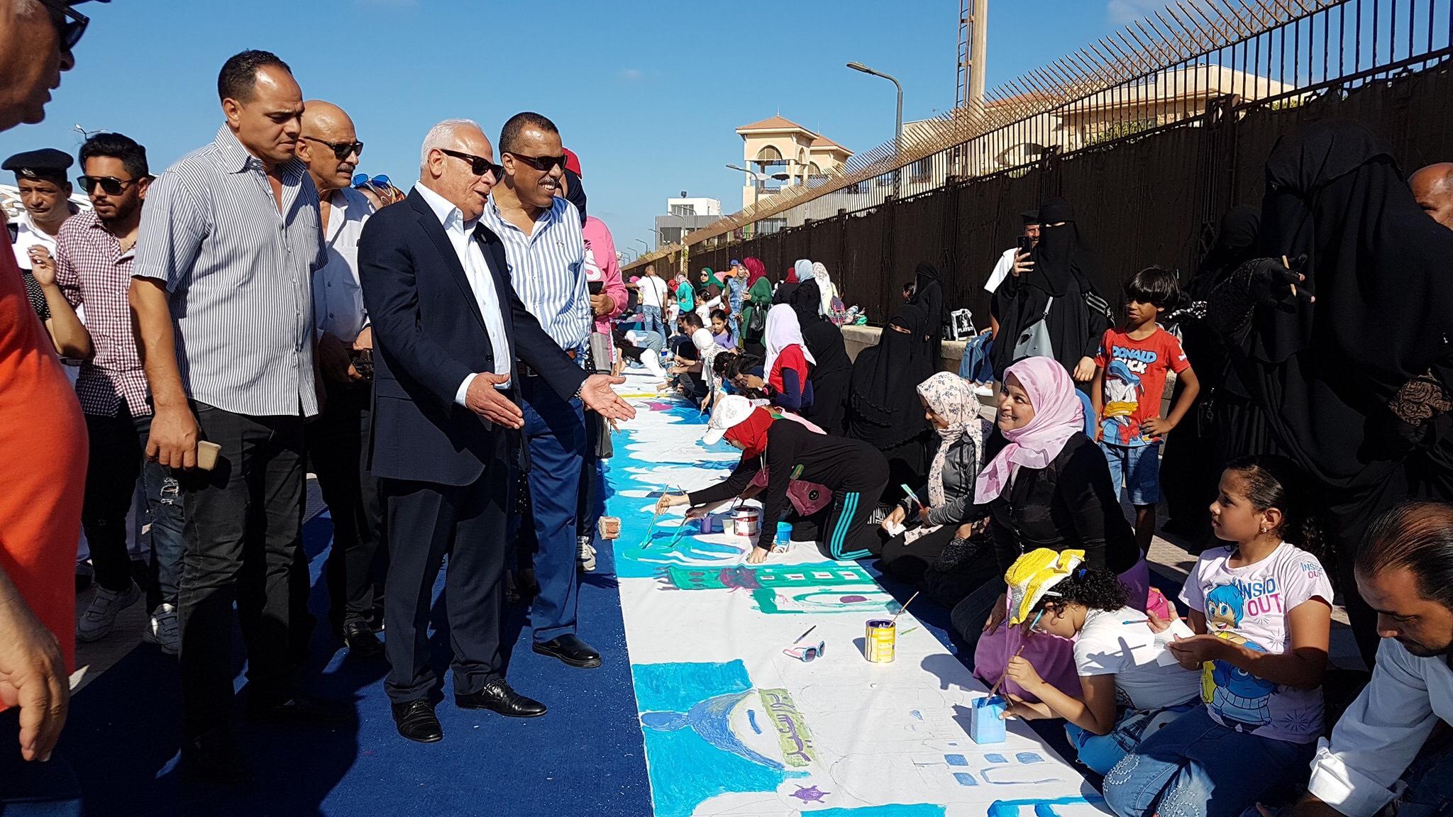 طلاب بورسعيد يرسمون معالمها (5)