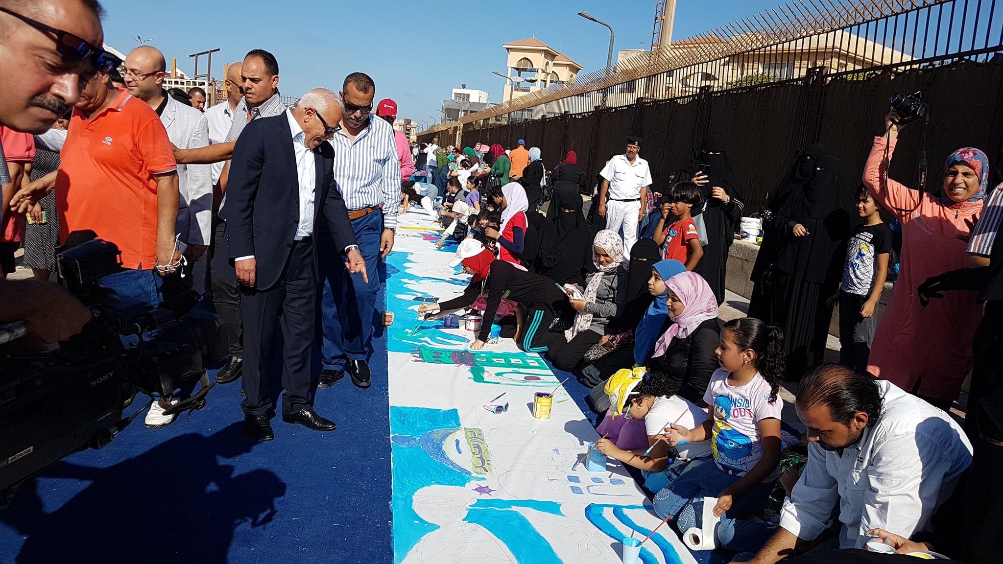 طلاب بورسعيد يرسمون معالمها (6)