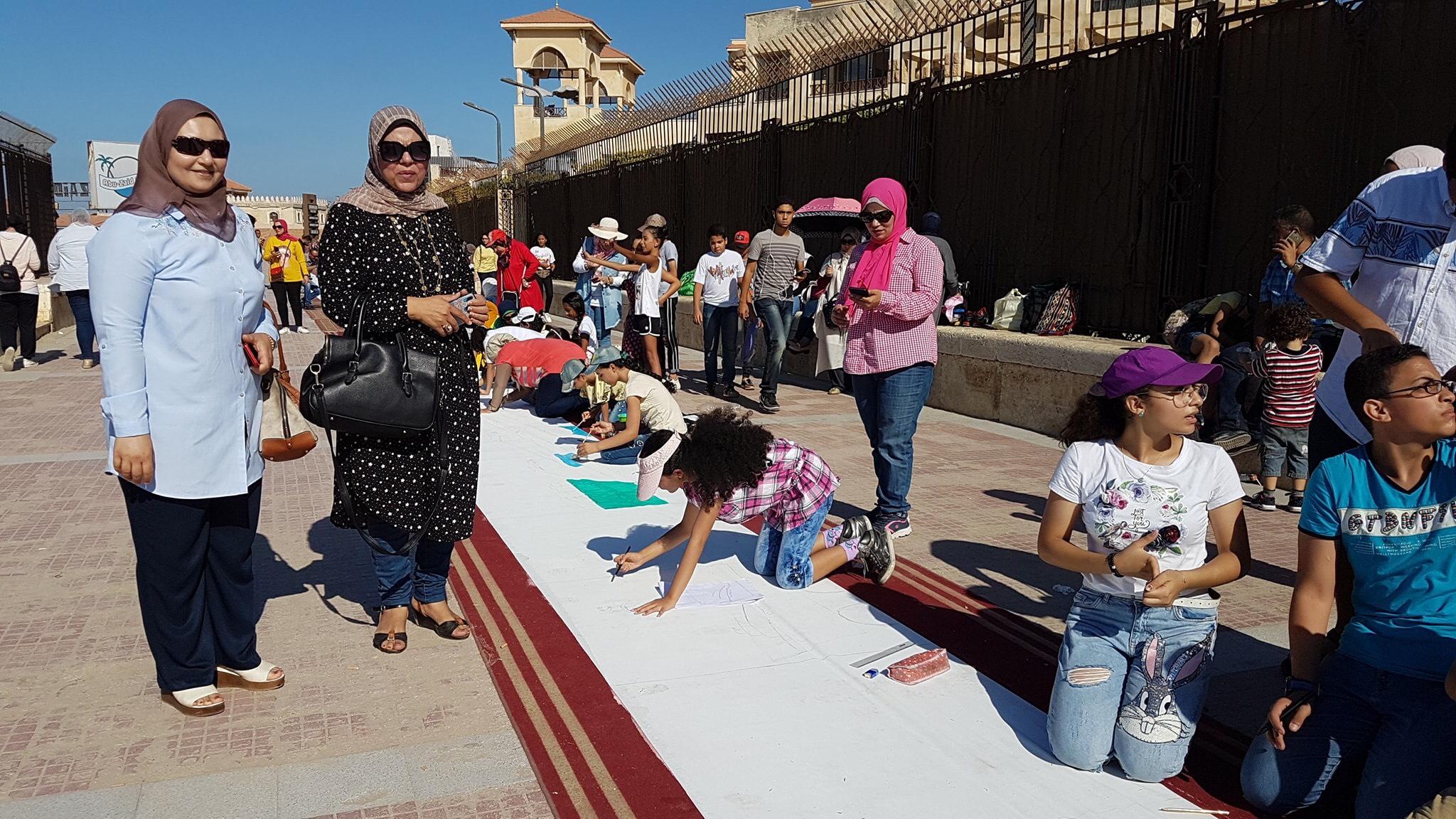 طلاب بورسعيد يرسمون معالمها (9)