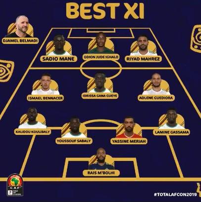 التشكيل المثالى لامم افريقيا 2019