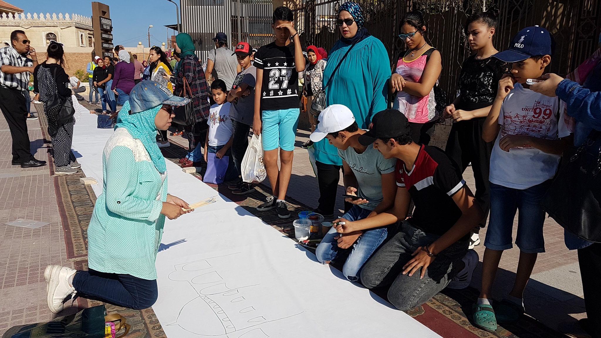 طلاب بورسعيد يرسمون معالمها (23)