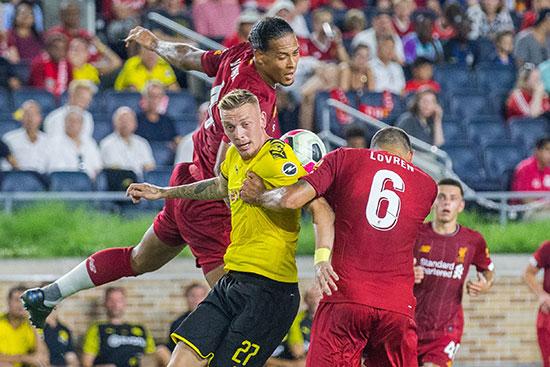 مباراة ليفربول وبروسيا درتموند