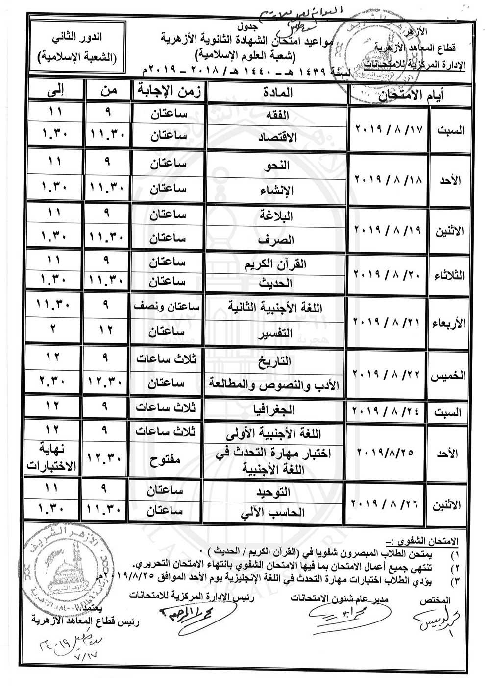 ثانوية-شعبة-دور-ثان-2019