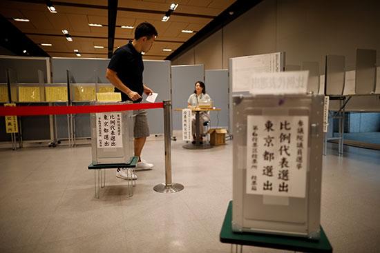 انتخابات مجلس الشيوخ الياباني في طوكيو