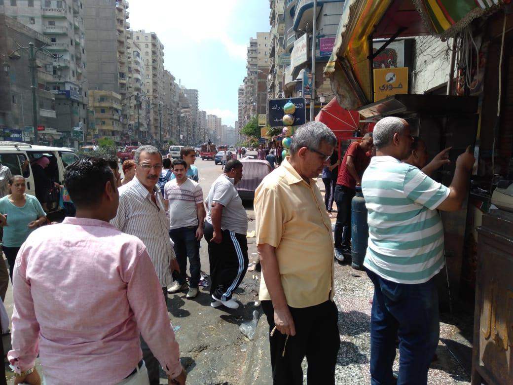 حملات رقابية لمراقبة الأسواق شرق وغرب الإسكندرية  (2)