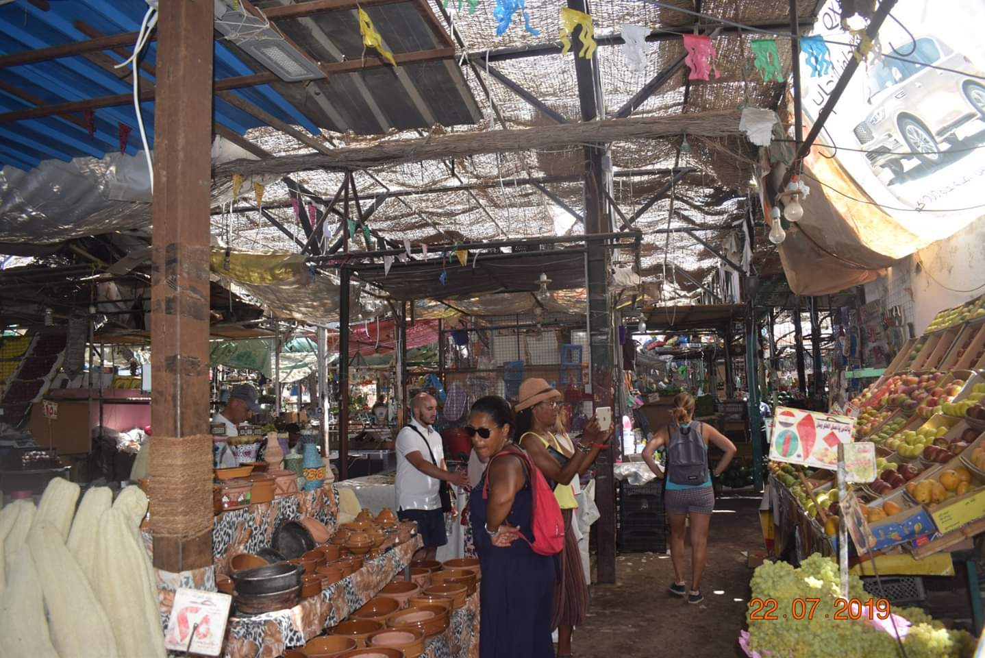 الوفود السياحية تزور سوق الخضار بالغردقة (1)