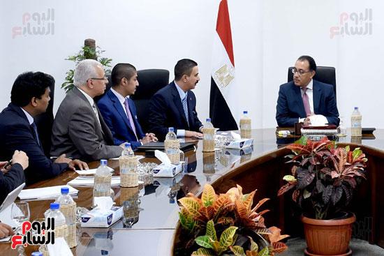 مصطفى مدبولى يلتقى نائب رئيس مجلس إدارة مجموعة عجلان