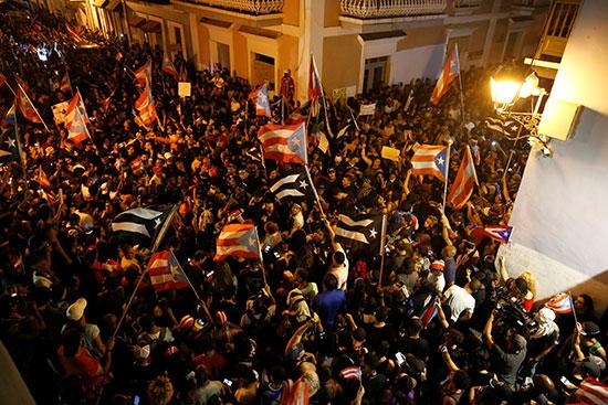 الاحتجاجات بو بورتوريكو