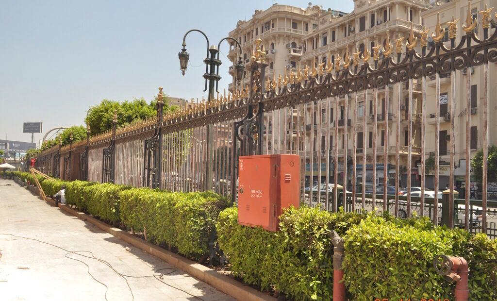 أعمال تطوير الموقع العام للمتحف المصرى بالتحرير (3)