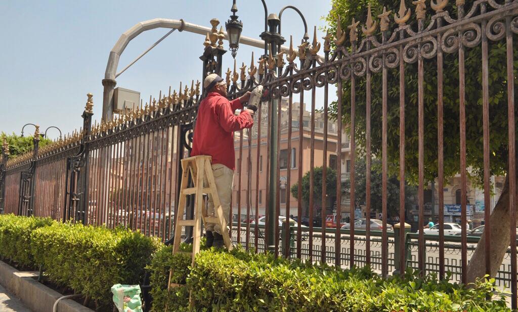 أعمال تطوير الموقع العام للمتحف المصرى بالتحرير (4)