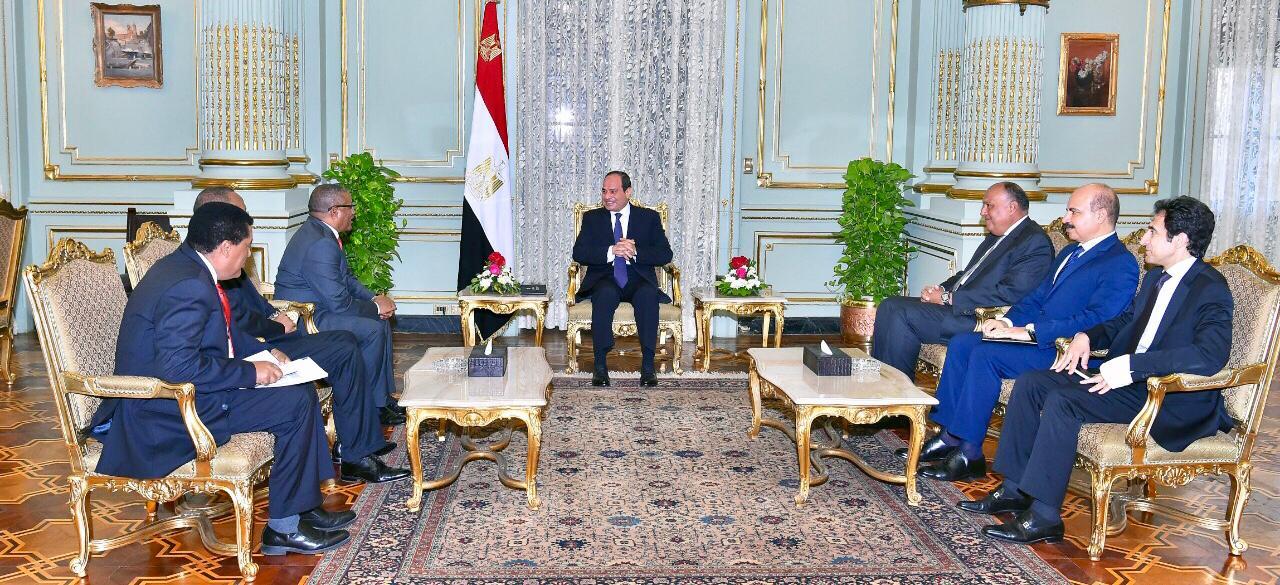 استقبل الرئيس عبد الفتاح السيسي ، اليوم الخميس ، بقصر المنتزه بالإسكندرية جيدو اندارجاشيو، وزير الخارجية الإثيوبي