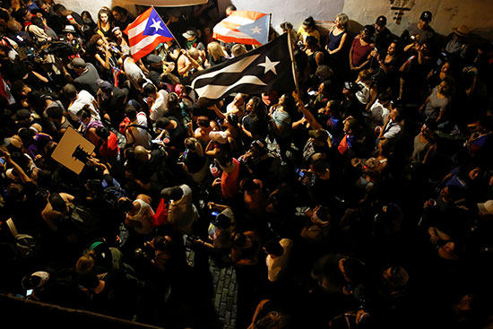 تجدد الاحتجاجات فى بورتوريكو ضد حاكم البلاد