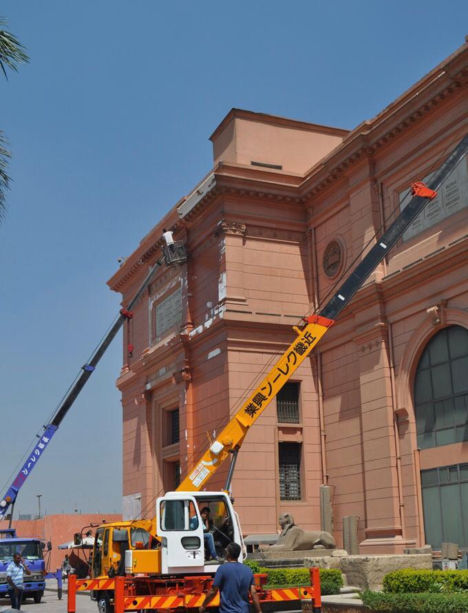 أعمال تطوير الموقع العام للمتحف المصرى بالتحرير (1)