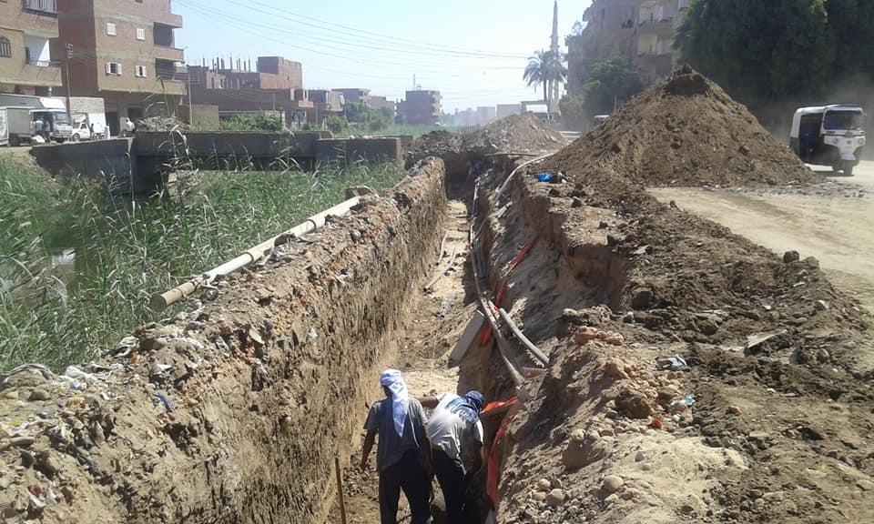 أعمال تطوير طريق الدير (2)