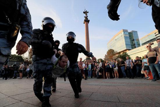 Russian anti riots police