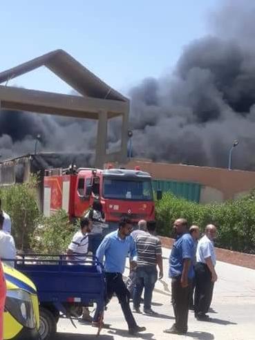 حريق مصنع (1)