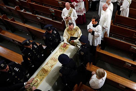 The funeral of Luis Alvarez