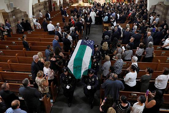 The body of former New York police investigator Luis Alvarez