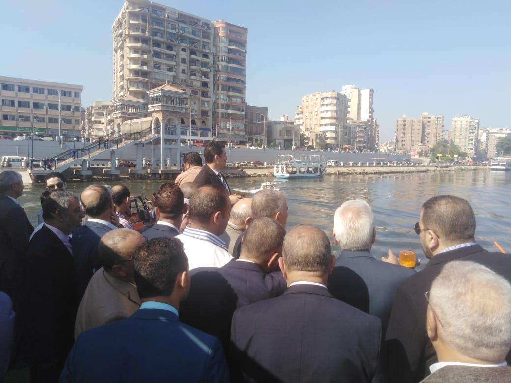 افتتاح الأتوبيس النهرى بالمنصورة (2)