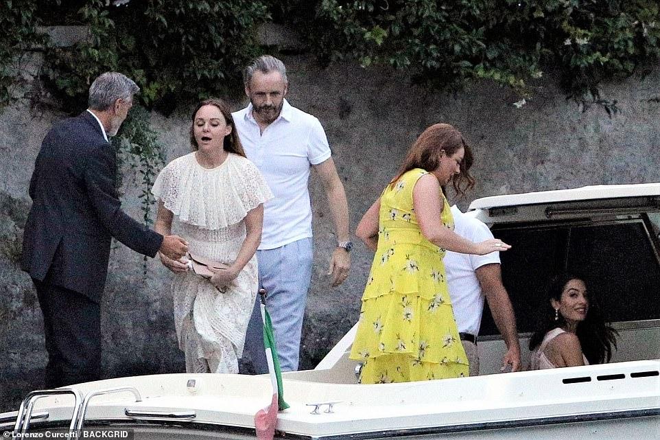 رحلة مميزة لجورج كلوني و أمل علم الدين في ايطاليا (3)