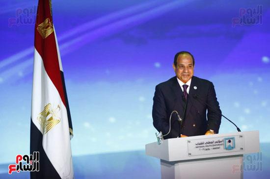 المؤتمر الوطنى السابع للشباب بحضور الرئيس عبد الفتاح السيسى (1)