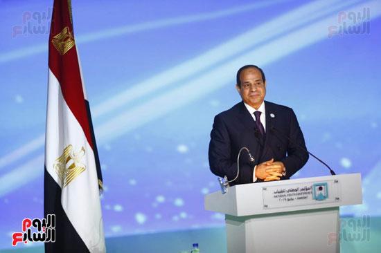 المؤتمر الوطنى السابع للشباب بحضور الرئيس عبد الفتاح السيسى (2)
