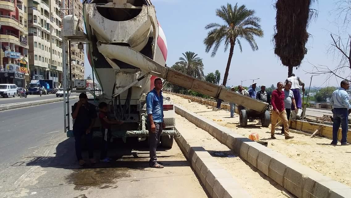 أعمال ممشى كورنيش النيل ببنى سويف (4)