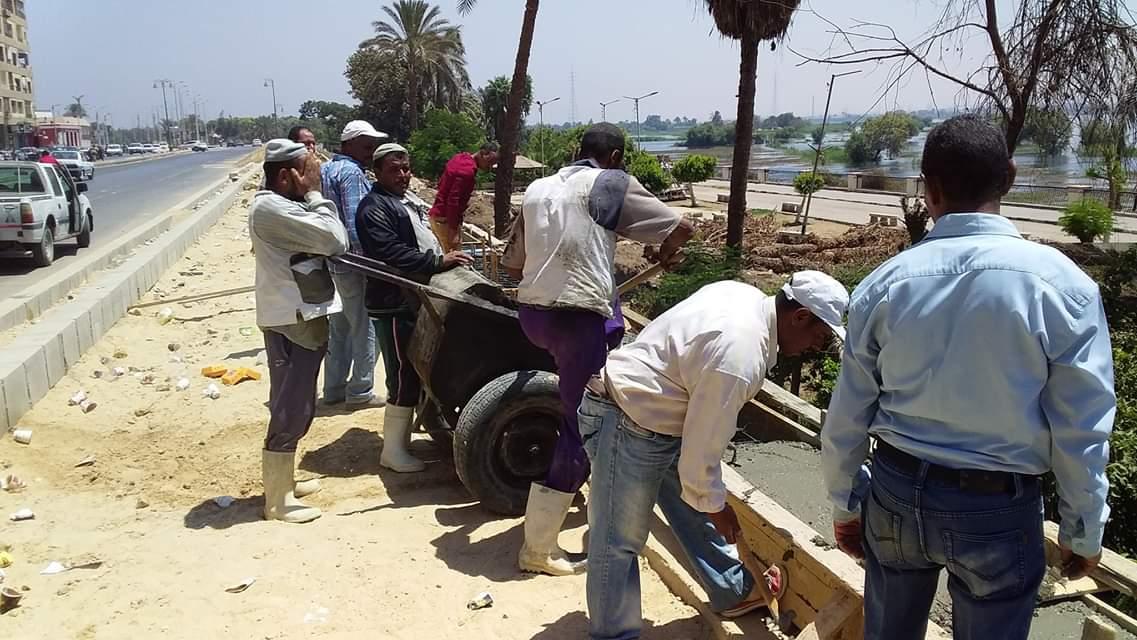 أعمال ممشى كورنيش النيل ببنى سويف (3)