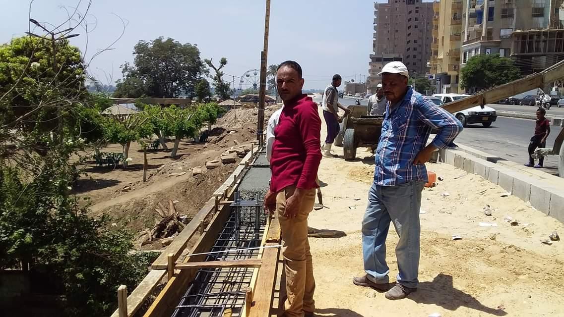 محافظ بنى سويف يتفقد تطوير كورنيش النيل  (2)