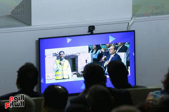السيسي يطلق مبادرة حياة كريمة بمؤتمر الشباب (7)