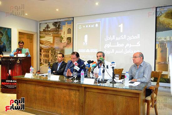 المؤتمر الصحفي الخاص بالدورة الثانية عشر للمهرجان القومي للمسرح المصري  (14)
