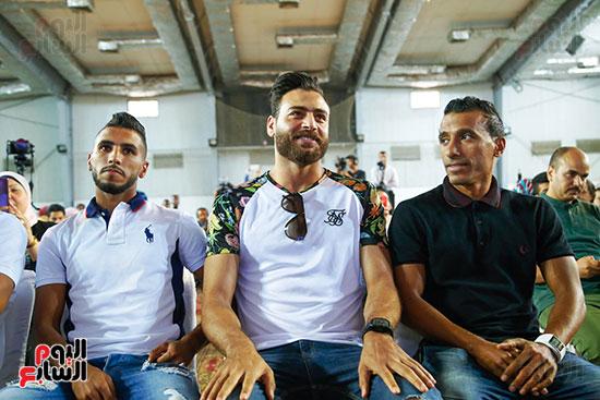 عبد الشافي وأبوجبل في مؤتمر صفقات الزمالك
