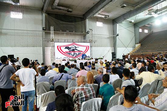 الحضور في مؤتمر تقديم صفقات الزمالك