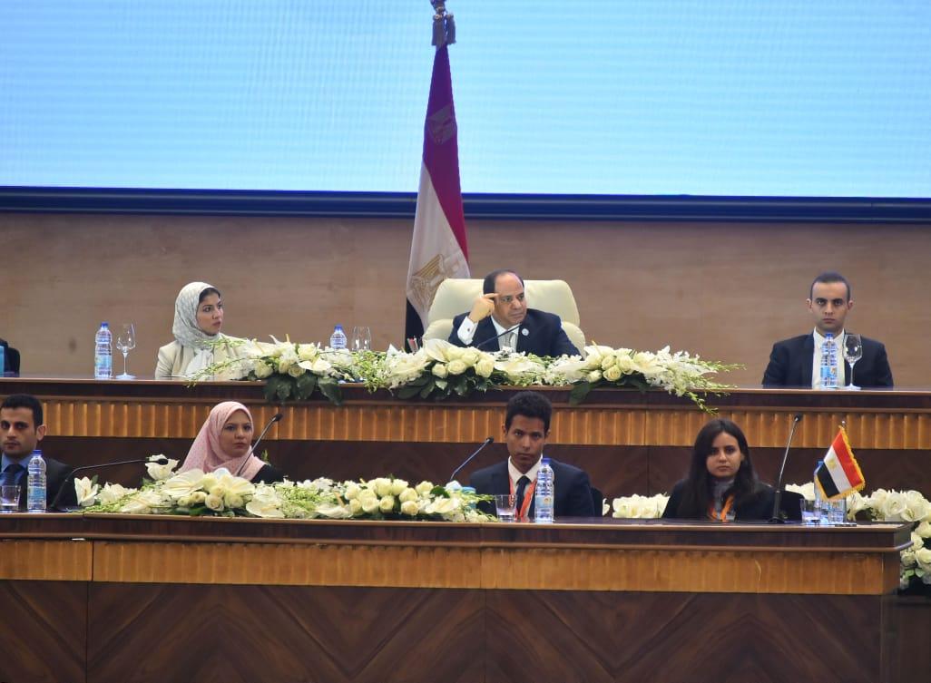 جلسة إطلاق مبادرة التحول الرقمى بمؤتمر الشباب (2)