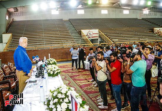 مؤتمر صحفي لقتيدم صفقات الزمالك