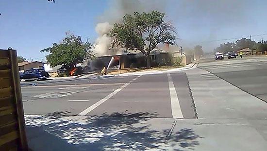 حريق شب بأحد المنازل