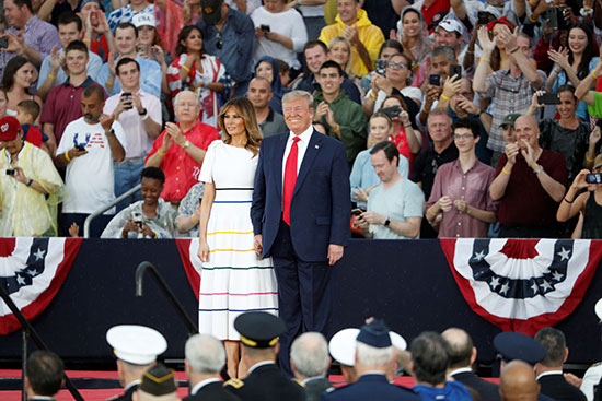 الرئيس الأمريكى فى يوم الاستقلال
