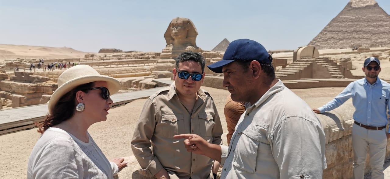 زيارة رئيس الجمعية العامة للأمم المتحدة لمنطقة آثار الهرم (1)