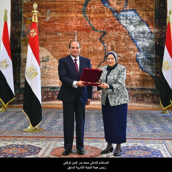 المستشارة أماني محمد بدر الدين الرفعي رئيس هيئة النيابة الإدارية السابق