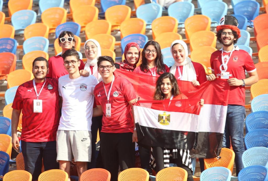 الجماهير فى مباراة مصر وجنوب أفريقيا  (4)