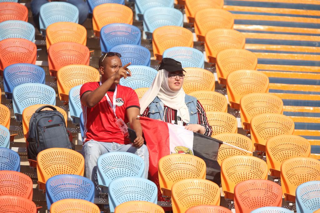 الجماهير فى مباراة مصر وجنوب أفريقيا  (9)