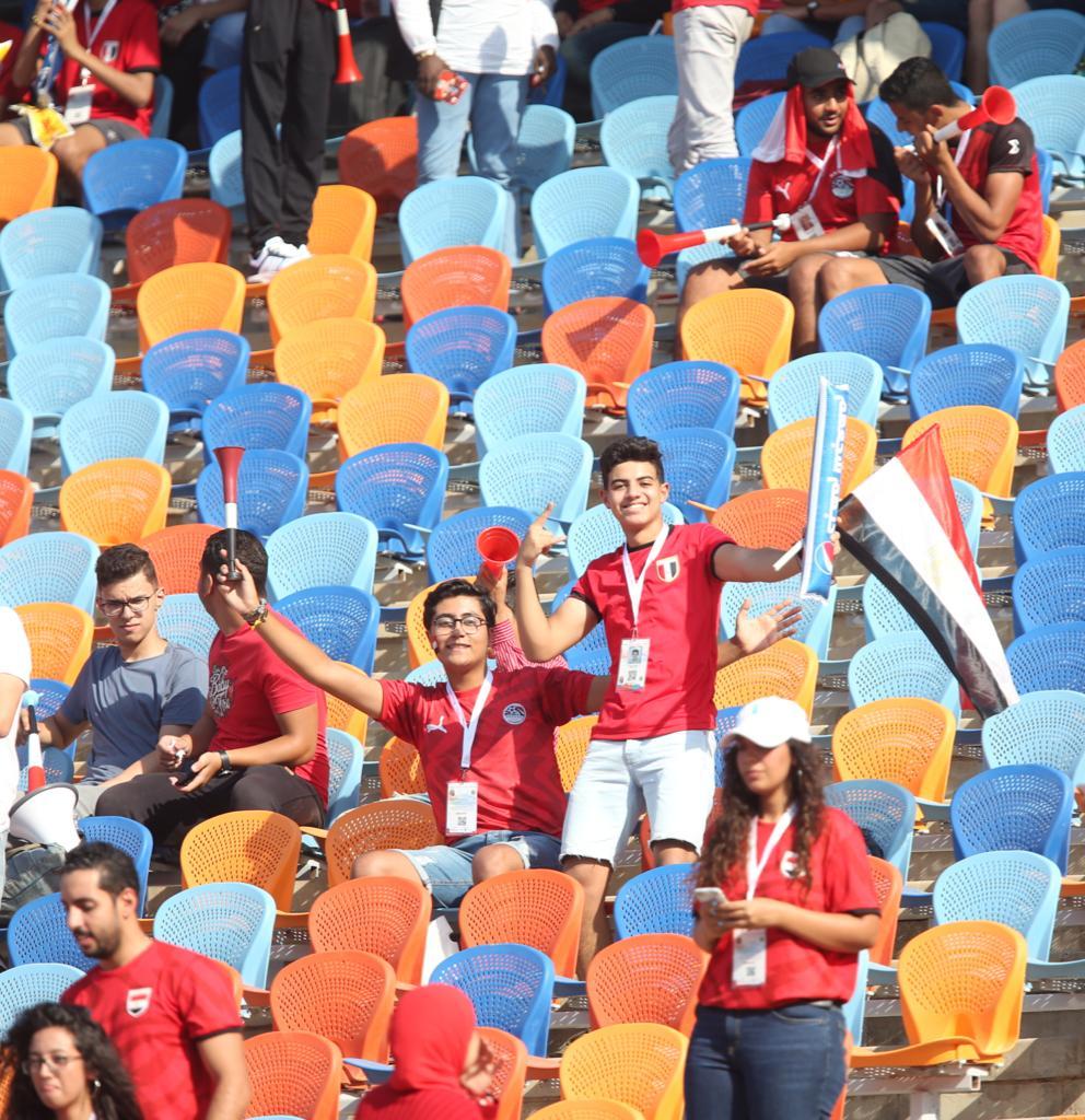 الجماهير فى مباراة مصر وجنوب أفريقيا  (6)