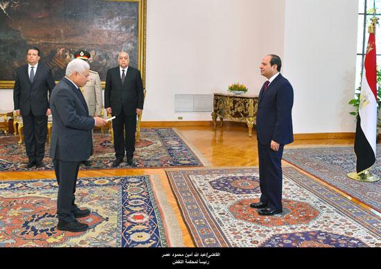 القاضي عبد الله أمين محمود عمر رئيس محكمة النقض