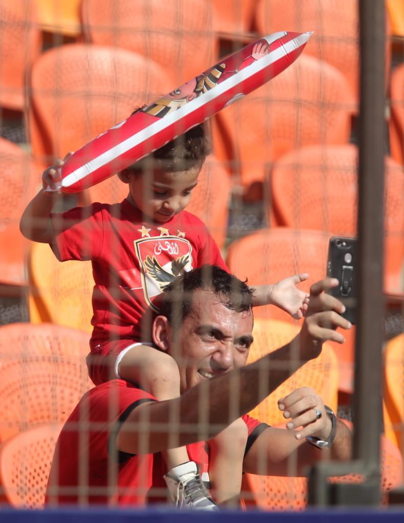 الجماهير فى مباراة مصر وجنوب أفريقيا  (8)