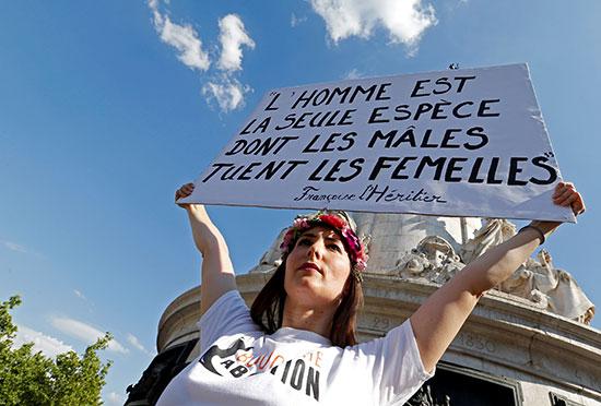 احتجاجات ضد العنف الأسرى فى فرنسا (3)
