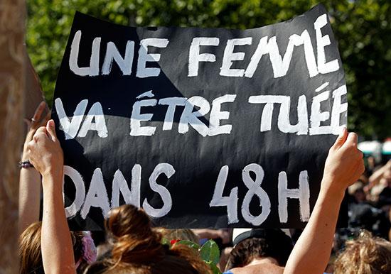احتجاجات ضد العنف الأسرى فى فرنسا (1)