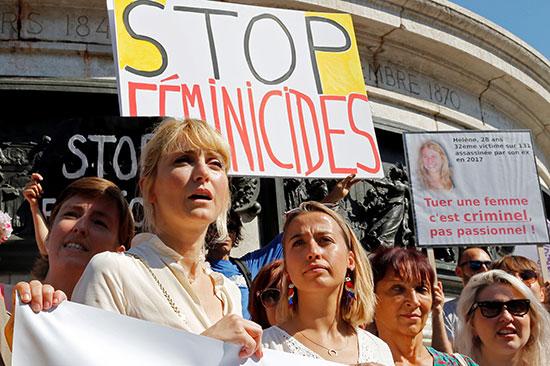 احتجاجات ضد العنف الأسرى فى فرنسا (7)