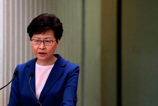 كارى لام الرئيسة التنفيذية لهونج كونج