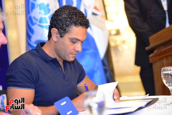 حفل تنصيب فنانين مصريين سفراء للنوايا الحسنة  (7)