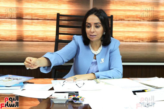 الدكتورة مايا مرسى رئيسة المجلس القومى للمرأة (4)